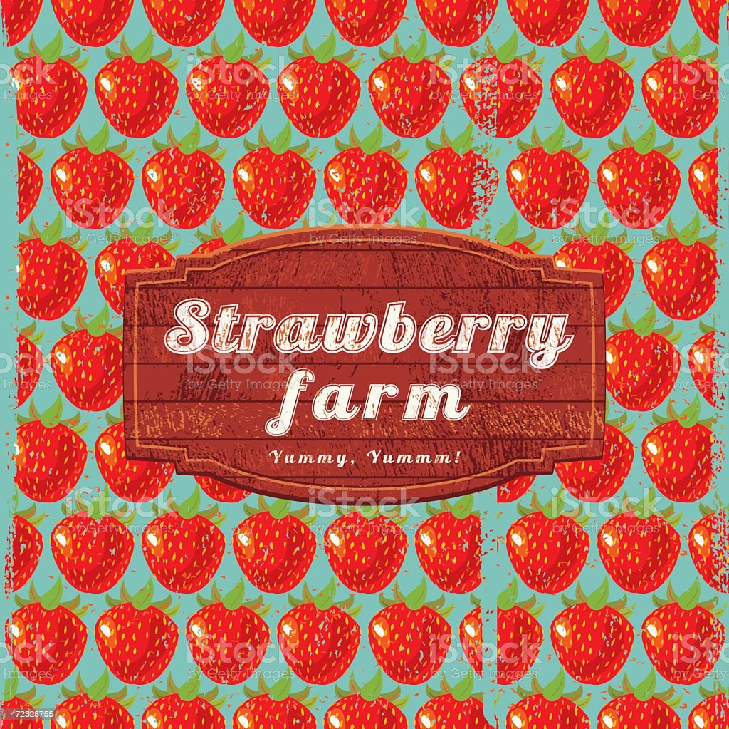Strawberry Farm Sign royalty-free strawberry farm sign stock vector art & more images of agriculture