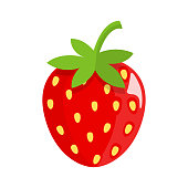 strawberry Icon with Shadow