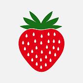 istock Strawberry fruit icon. 1176564771