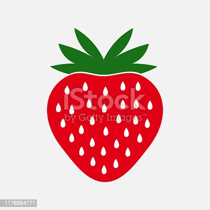 Strawberry fruit icon. Vector illustration.