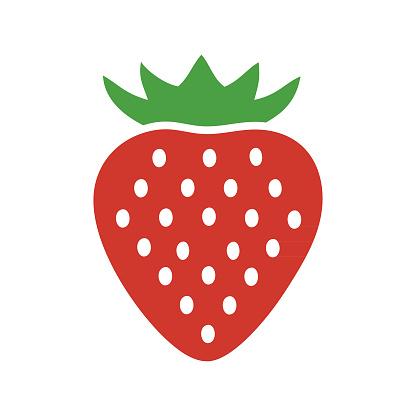 strawberry fruit logo