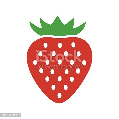 istock strawberry fruit logo 1273773987
