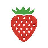 istock strawberry fruit logo 1273773987