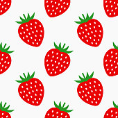 Strawberry fruit seamless pattern. Vector illustration