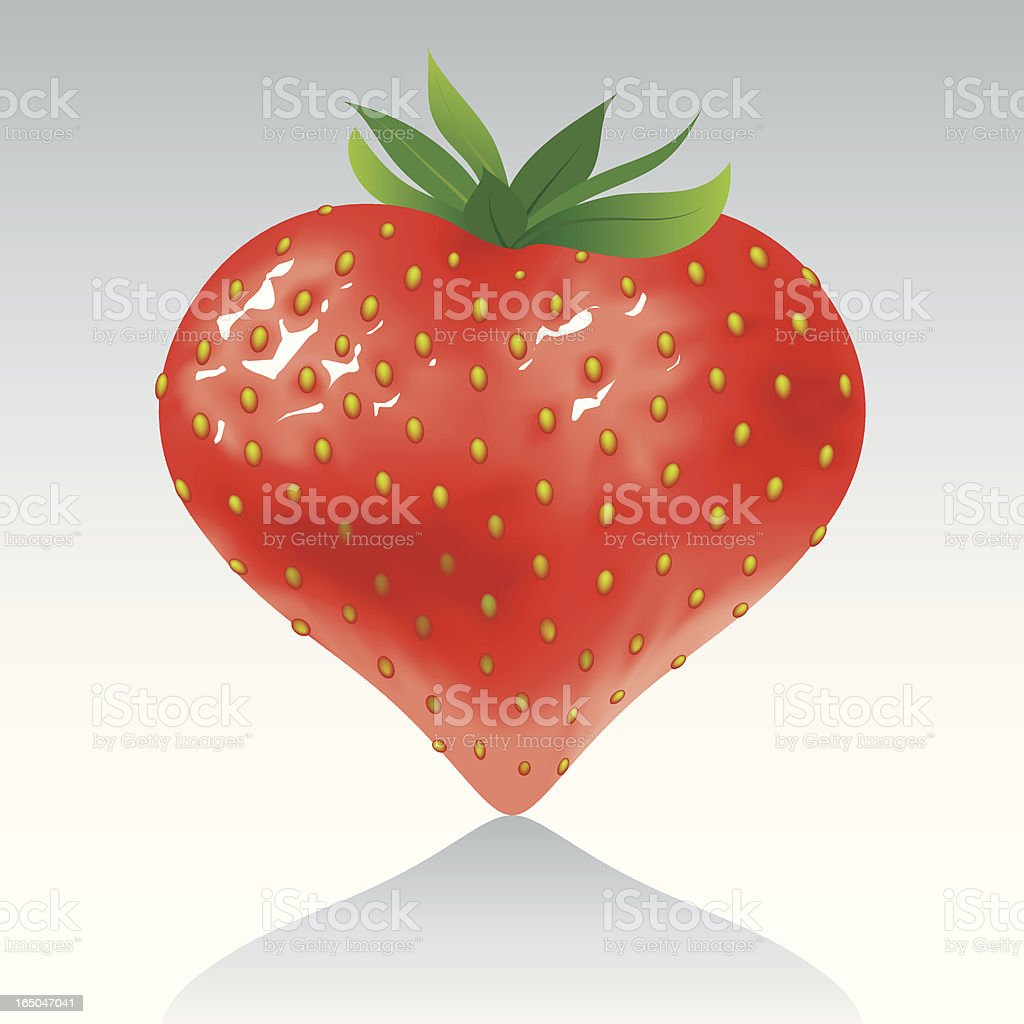 Strawberry heart royalty-free strawberry heart stock vector art & more images of celebration event