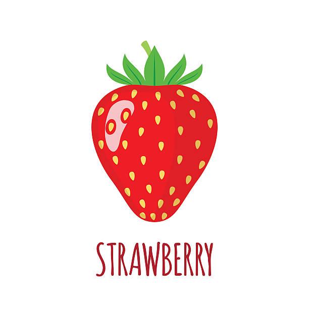 illustrations, cliparts, dessins animés et icônes de fraise icônes dans plat style sur fond blanc - fraise