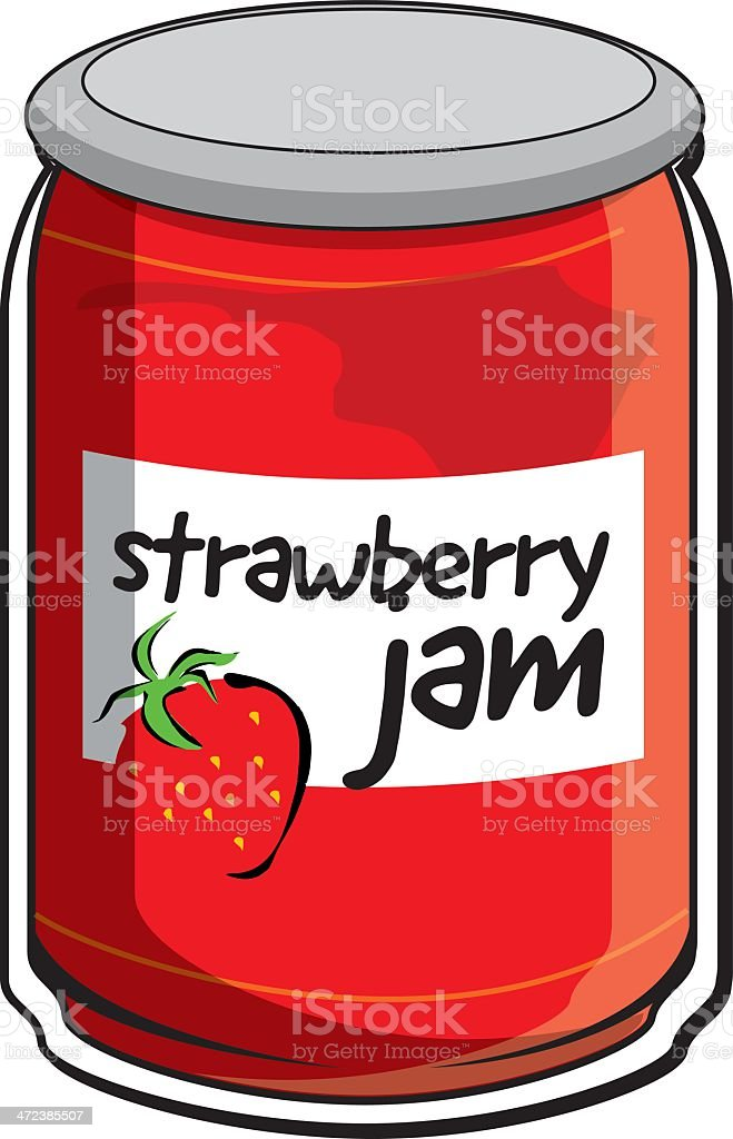 royalty free strawberry jam jar clip art vector images