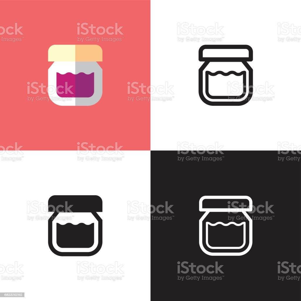 Strawberry Jam strawberry jam - immagini vettoriali stock e altre immagini di alimentazione sana royalty-free
