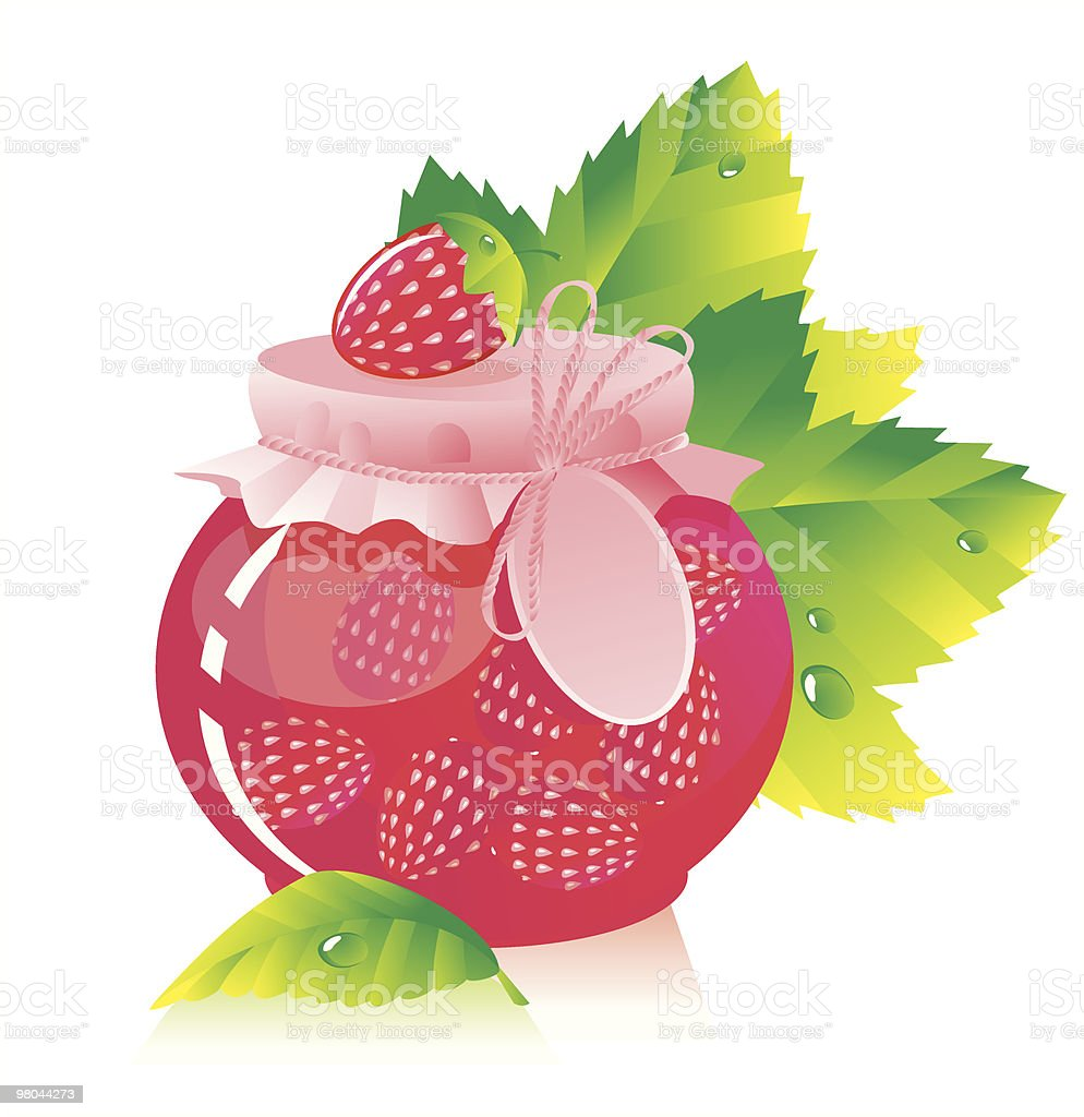 Strawberry jam with berries royalty-free strawberry jam with berries stock vector art & more images of berry fruit
