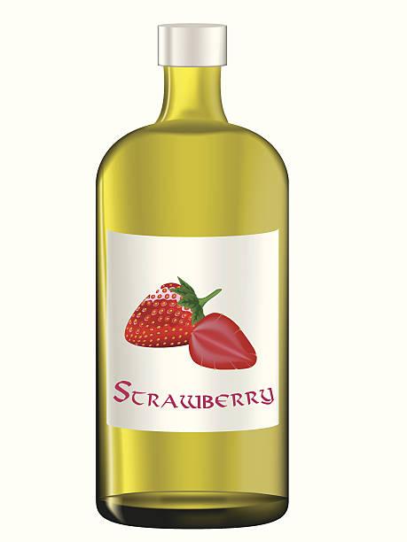 illustrazioni stock, clip art, cartoni animati e icone di tendenza di succo di fragole - fruit juice bottle isolated