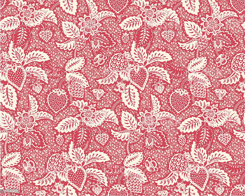 Strawberry lace royalty-free stock vector art