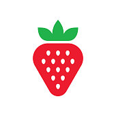 istock Strawberry logo 1182495774