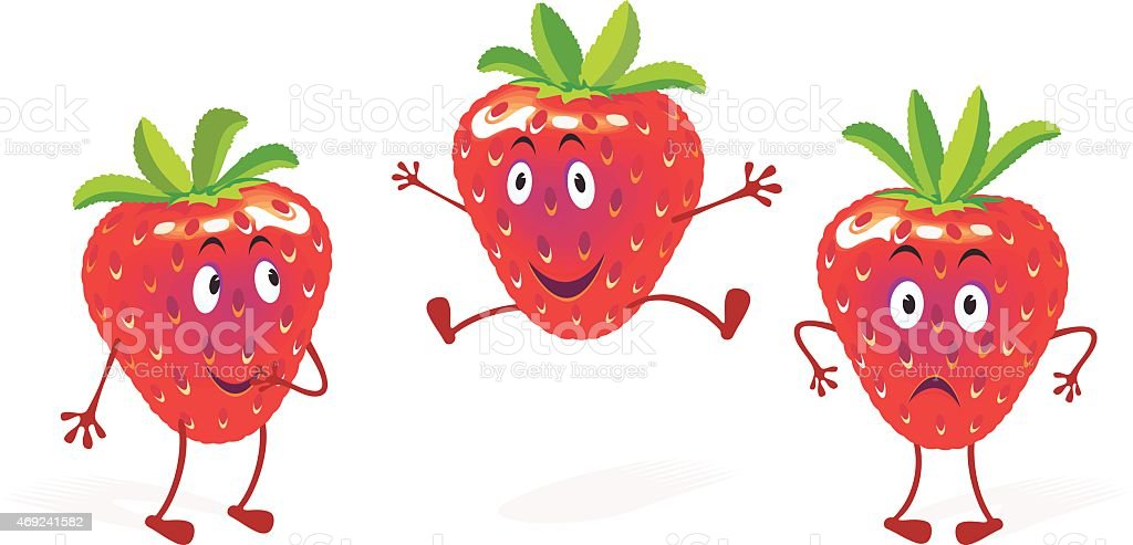 Strawberry Mood vector art illustration