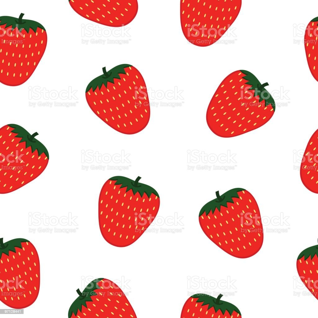 Strawberry seamless background royalty-free strawberry seamless background stock vector art & more images of backgrounds