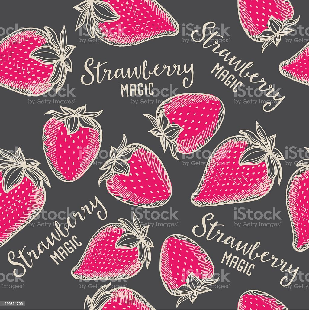 Strawberry seamless pattern background. royalty-free strawberry seamless pattern background stock vector art & more images of abstract
