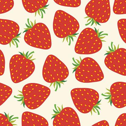 Strawberry seamless pattern .