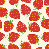 Vector strawberry seamless pattern .