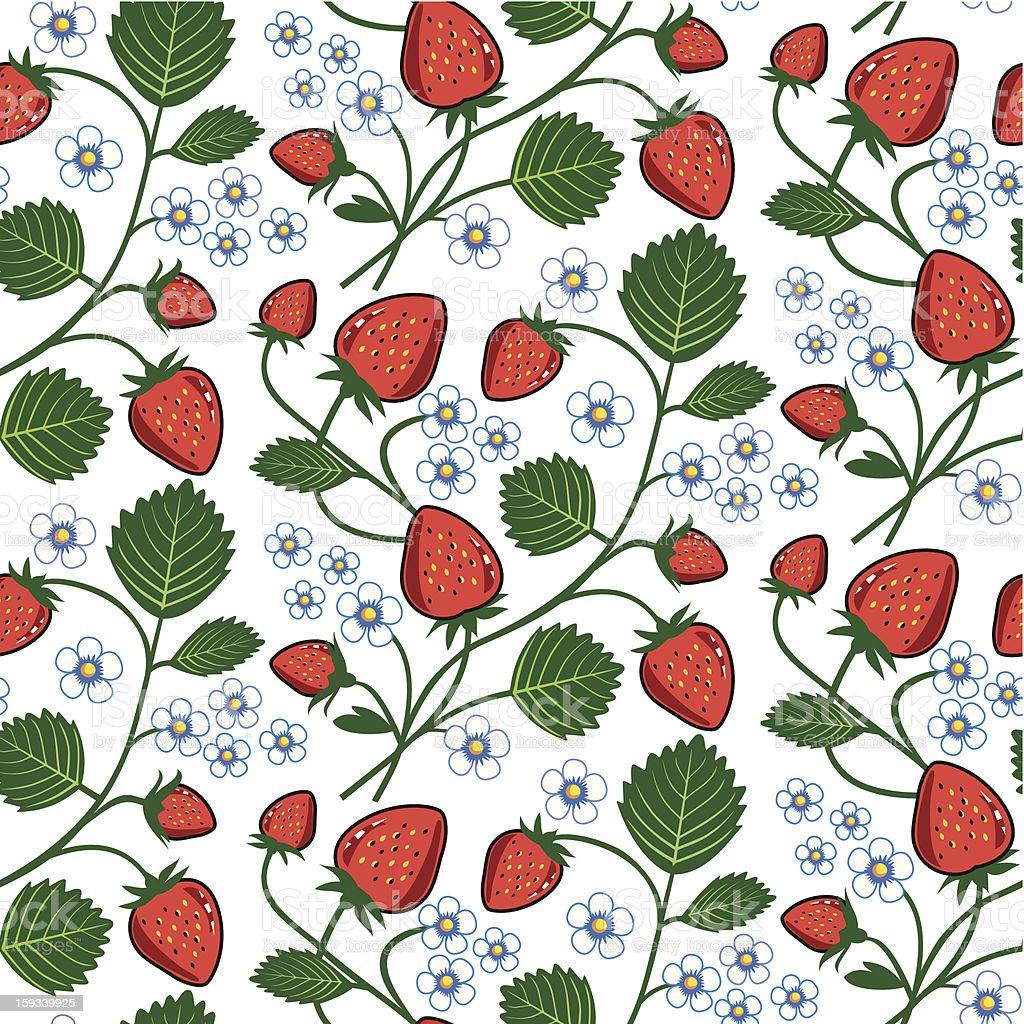 Strawberry seamless royalty-free stock vector art