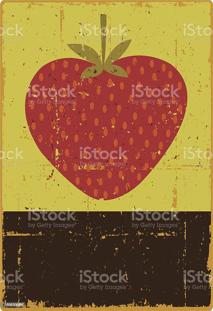 Strawberry Sign vector art illustration