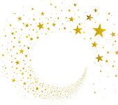 stream gold stars on a white background