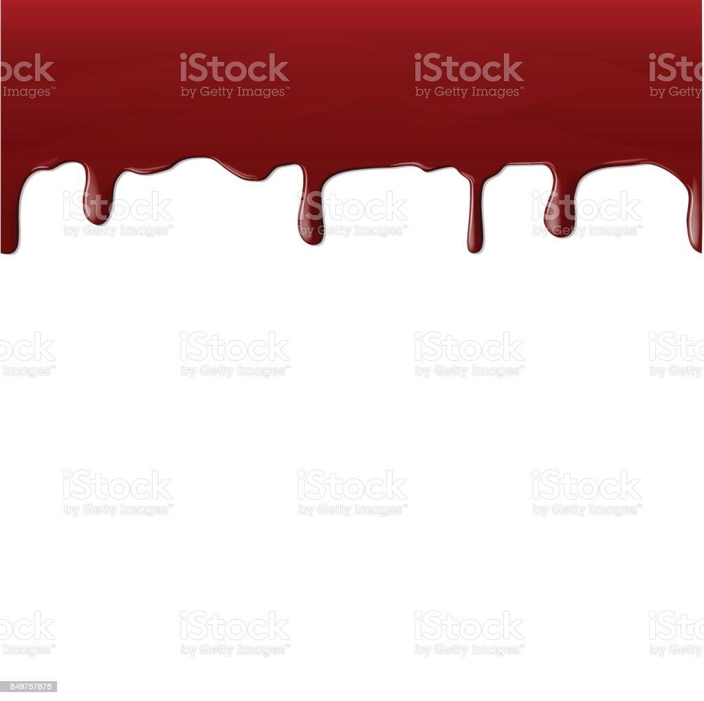A stream of realistic blood vector art illustration