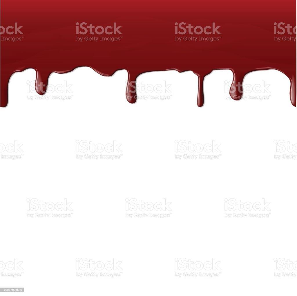 Ein Strom von realistischen Blut – Vektorgrafik