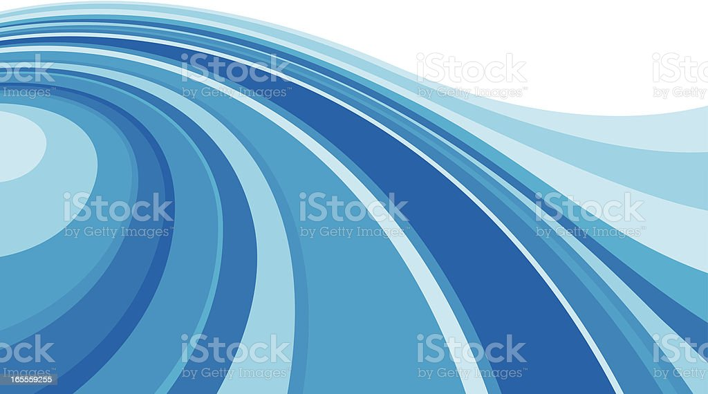 Streaming blue royalty-free stock vector art
