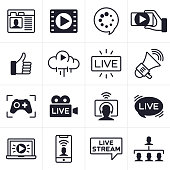 Streaming Icons and Symbols