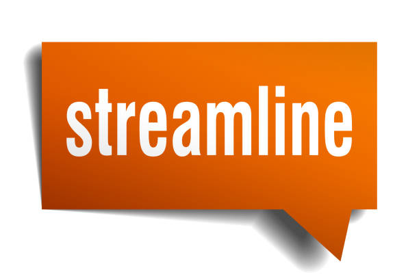 streamline orange 3d speech bubble streamline orange 3d square isolated speech bubble aerodynamic stock illustrations