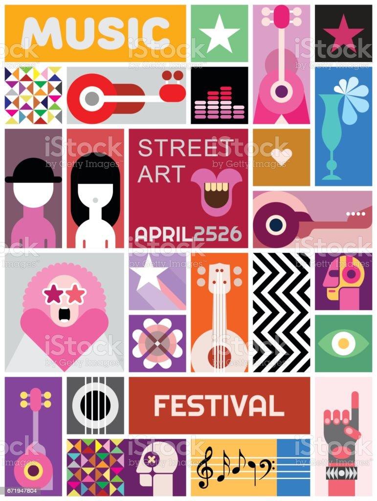 street art poster template design stock vecteur libres de droits