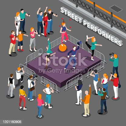 istock street artists isometric people composition 1201180905