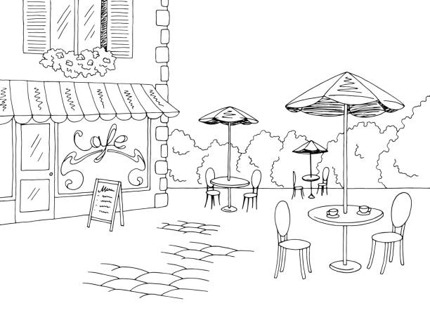 Best Cafe Table Illustrations, Royalty-Free Vector ...