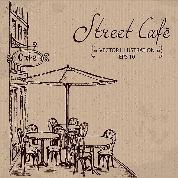 street café - cafe stock-grafiken, -clipart, -cartoons und -symbole