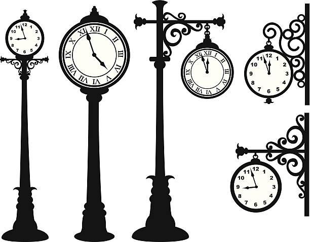 Street Uhr – Vektorgrafik