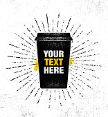 Inspiring Creative Hot Drink Poster Template. Vector Typography Banner Design Concept On Grunge Texture Rough Background