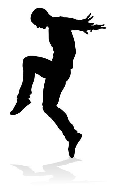 bildbanksillustrationer, clip art samt tecknat material och ikoner med street dance dansare siluett - street dance