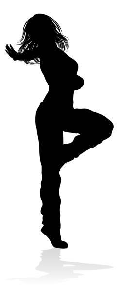 bildbanksillustrationer, clip art samt tecknat material och ikoner med street dance dancer silhuett - street dance