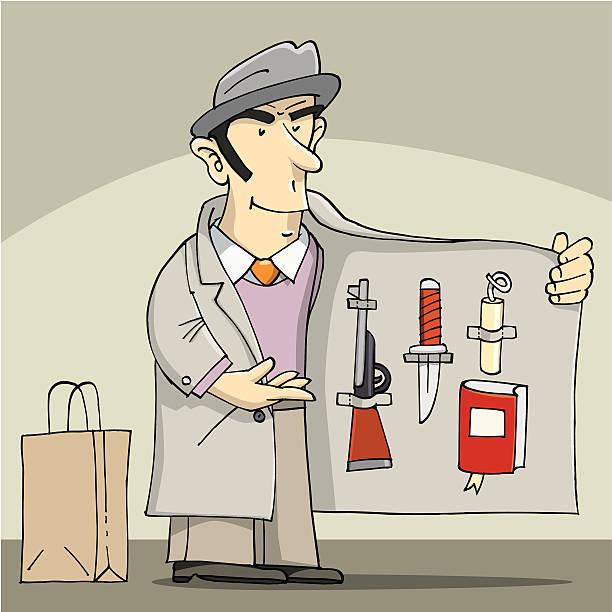 Street dealer vector art illustration