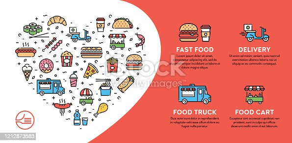 istock Street Fast Food Icon Banner 1212873583