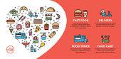 istock Street Fast Food Icon Banner 1212873583
