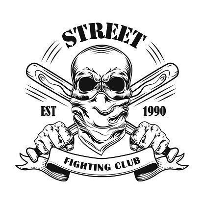 Street fight member vector illustration