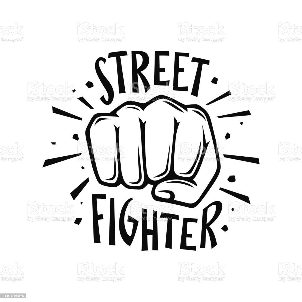 Street Fighter Tshirt Design Vector Illustration Stock