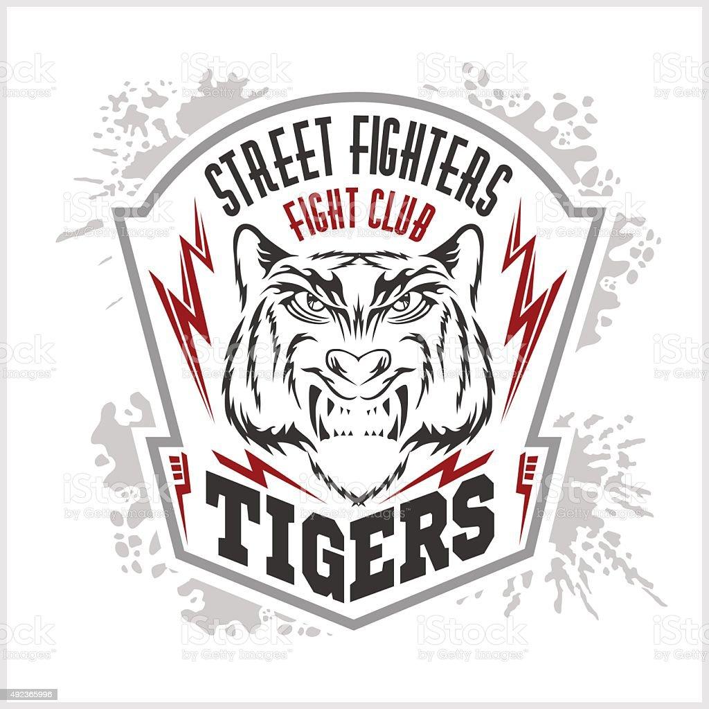 Street Fighters Fighting Club Emblem Label Badge Logo Stock
