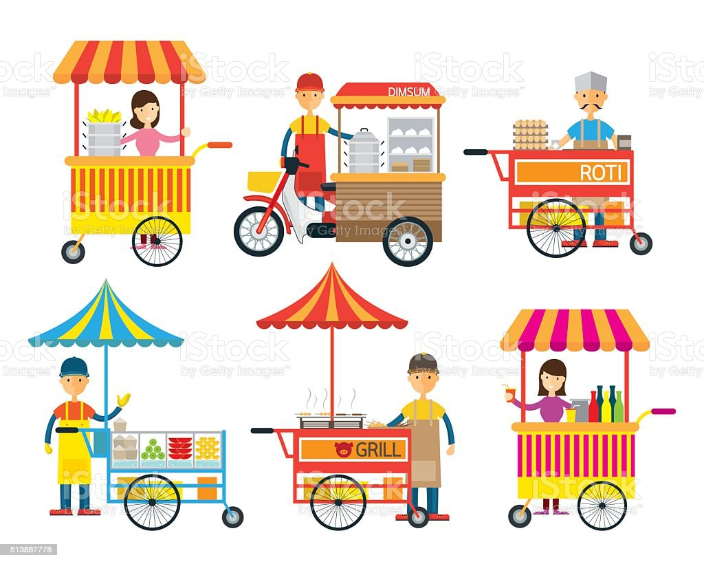 Street Food and Drink, Hawker, Seller