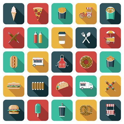 Street Food Icon Set