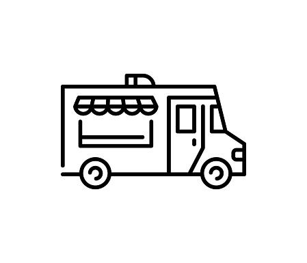Street Food Truck Icon Logo