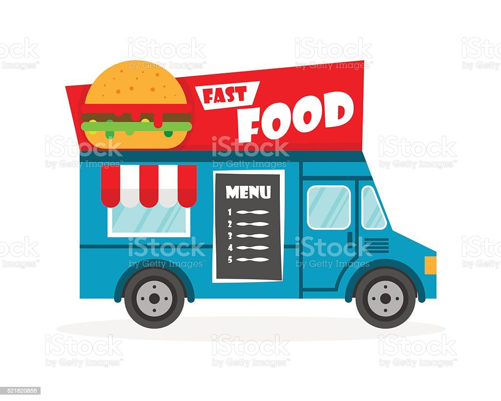 Street Food Truck Vector Illustration Royalty Free Stock Art