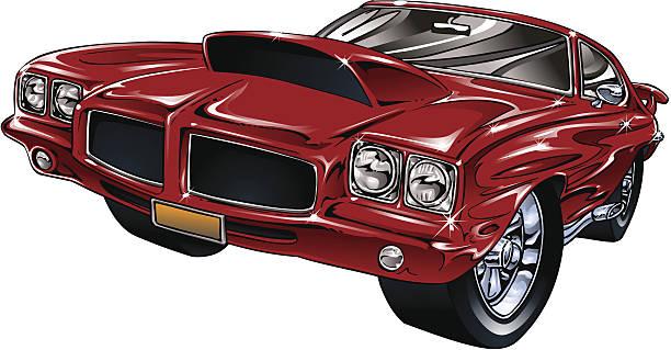 Street Hot Rod vector art illustration