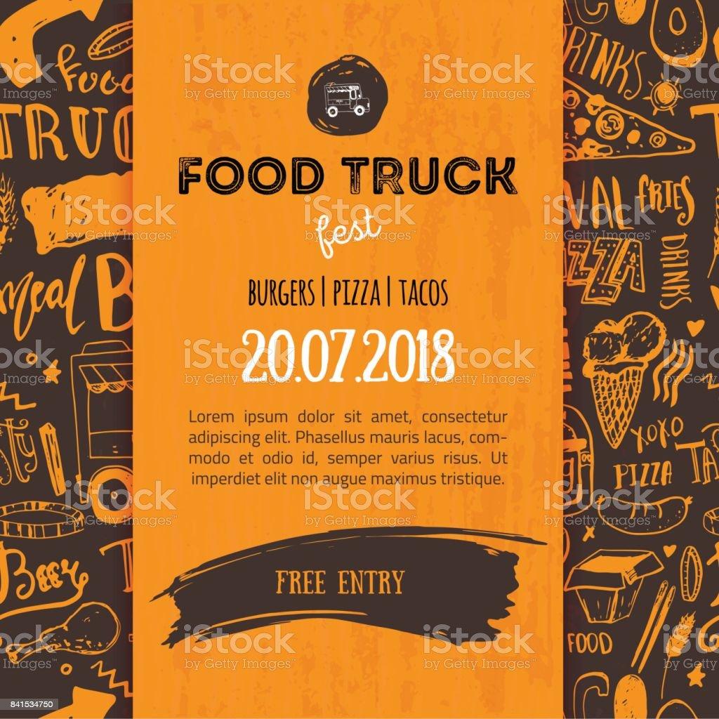 Street Junk Food Festival Menu Cover Design Festival Design Template ...