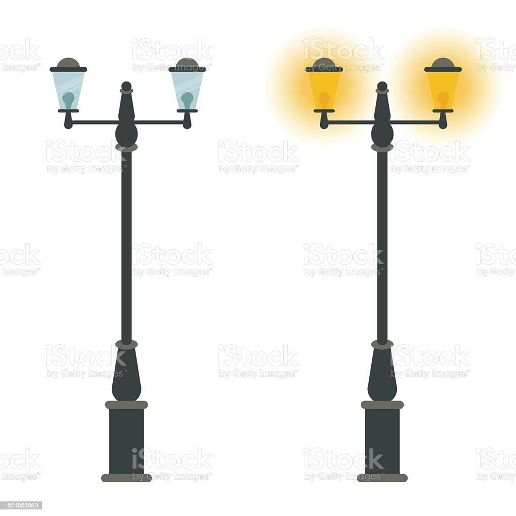 Street Lamp Vector Icon Design Outdoor City Classic Vintage Stock ... for Classic Street Lamp  110ylc